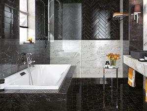 Кирпичики из мрамора и оникса — роскошная отделка для ванной комнаты