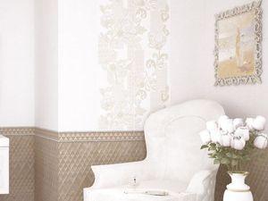 Вышивка на стенах и стеганые цоколи