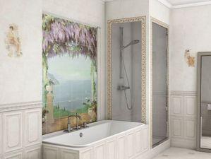 Панно во всю стену — решение для стандартных ванных