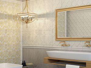 Текстильные обои для ванной комнаты